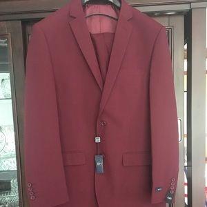 Other - Men's 2-piece Burgundy Suit 44R/38W